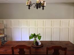 square wainscoting in the dining room home made modern