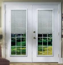 Patio Door Internal Blinds by French Doors Blinds Roman Fruitwood Bamboo Patio Door Shade In