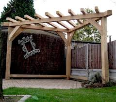 Gazebo Or Pergola by Oak Pergola Handmade Corner Gazebo Wood Garden Furniture Garden