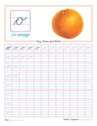 cursive small letter o practice worksheet aarnav pinterest