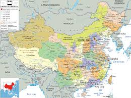 Map Of China And India by China Map And Satellite Image Hong Kong China Map India China