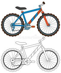 cartoon bicycle coloring page stock illustration image 56602428