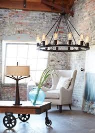 Chandelier With Edison Bulbs An Industrial Loft Brightened By A Large Chandelier With Edison