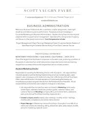 Customer Service Job Responsibilities Resume by Business Administration Resume