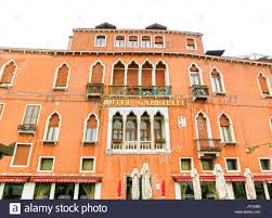 venice italy may 04 2017 facade of a luxury hotel gabrielli