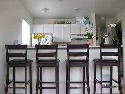 Kitchen With Bar Table - kitchen simple kitchen breakfast bar with high wooden stools and