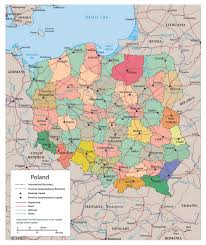 baia mare map political and administrative map of poland with roads railroads