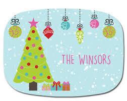 personalized christmas platter christmas platter etsy