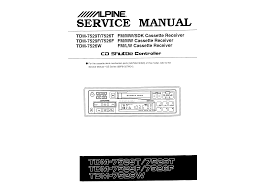 alpine tdm 7526f service manual immediate download