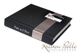Wedding Album Covers Kate U0026 Brice U0027s Album Modern Stripe Kristen Peelle Photography