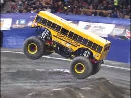 bus monster truck videos higher education cool bus freestyle worcester monster jam 2016