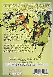 amazon com four horsemen of the apocalypse rudolph valentino
