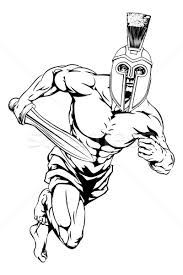 spartan helmet warrior vector illustration christos georghiou