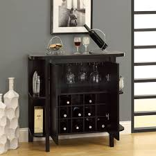 bar unit with bottle and glass storage cabinet at brookstone u2014buy now