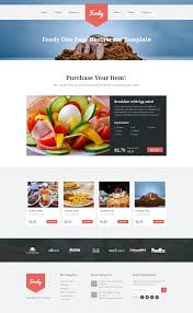 foody multipurpose single page restaurant template by themexy