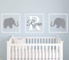 Decals For Walls Nursery Elephant Wall Name Decal Nursery Room Decor Vinyl Lovely