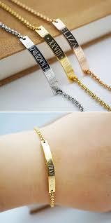 rose gold stainless steel bracelet images Stainless steel personalized skinny bar bracelet member board jpg