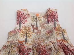 girls autumn dress fall dress deer fox girls dress toddler