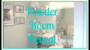 small bathroom tour affordable glam decor powder room