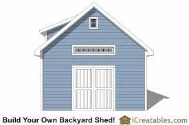Dormer Roof Design 16x20 Shed Plans With Dormer Icreatables Com