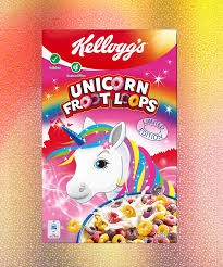 unicorn kelloggs froot loops cereal limited edition