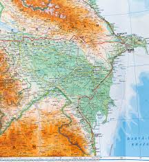 Caucasus Mountains On World Map by Caucasus Armenia Azerbaijan Georgia Geographical Map Gizi