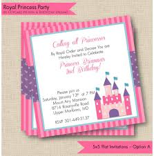 Printable Party Invitation Cards Royal Princess Printable Party Invitations
