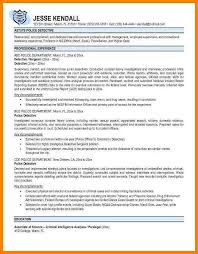 Law Enforcement Resume Template 7 Police Officer Resume Templates Address Example