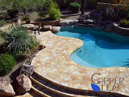 travertine pavers around pool round designs