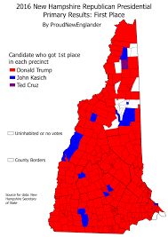 2016 Presidential Election Map by Maps And Analysis Of The 2016 New Hampshire Republican