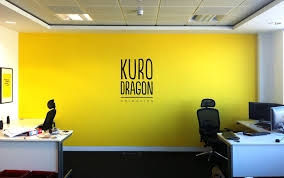 nice design of office space with yellow color kaasa health u0027s
