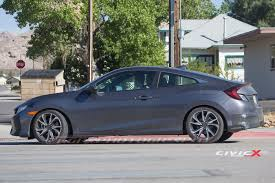 2017 honda civic si coupe first sighting 2016 honda civic