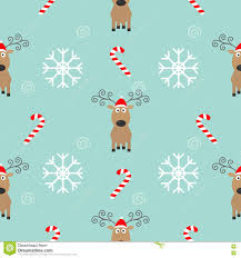 christmas snowflake candy cane deer wearing red santa hat