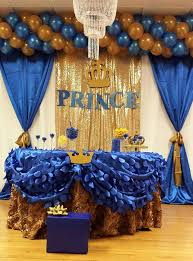 royal blue and gold baby shower decorations royal blue prence baby shower party ideas photo 9 of 13 catch