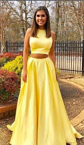 yellow dress two yellow prom dress with pockets modseleystore