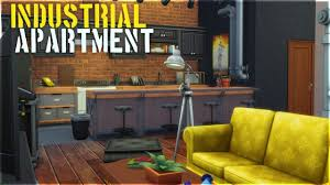 the sims 4 apartment build industrial apartment youtube