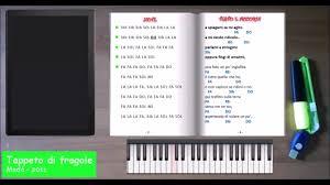tappeto di fragole testo e accordi tappeto di fragole versione per tastiera note testo accordi