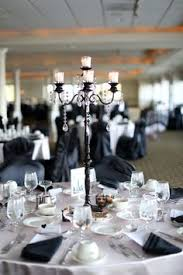 black and white texas wedding by two be wed black centerpieces
