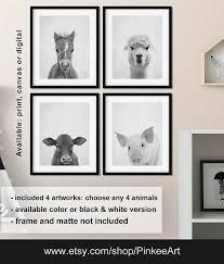black and white farm animal nursery black and white farmhouse