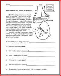 comprehension worksheets for 4th grade worksheets