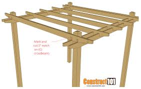 How To Build Your Own Pergola by Simple Diy Pergola Plans Construct101