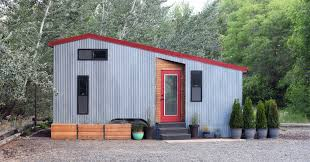 shedsistence tiny house d i y reclaimed walnut and corrugated
