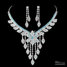 jewelry necklace images 2018 fashion diamond jewelry sets earrings and necklace bride jpg