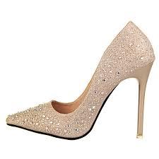 wedding shoes qatar 2016 new fashion women silver rhinestone wedding shoes