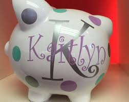 customized piggy bank baby personalized piggy bank piggy bank childrens piggy bank