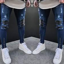 Ripped Denim Jeans For Men Unbranded Baggy Loose 26 Jeans For Men Ebay