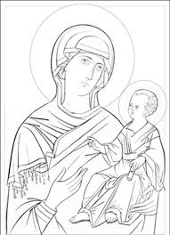 blessed mother coloring pages orthodox icons coloring pages iconen pinterest icons
