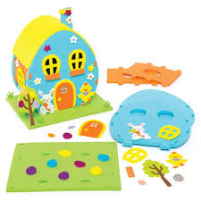 kid craft kits easter egg house craft kits for children to make
