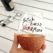 stemless wine glass glitter dipped wine glass funny wine