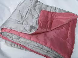 Wool Filled Duvet Vintage Wool Filled Rose Pink Blue Quilted Taffeta Comforter Duvet